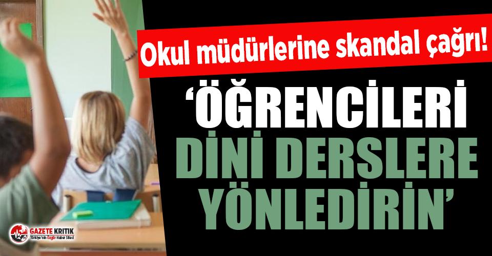 İlçe Milli Eğitim Müdüründen okul müdürlerine skandal yazı!