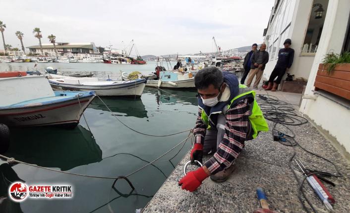 Kuşadası'ndaki balıkçı tekneleri artık daha güvende