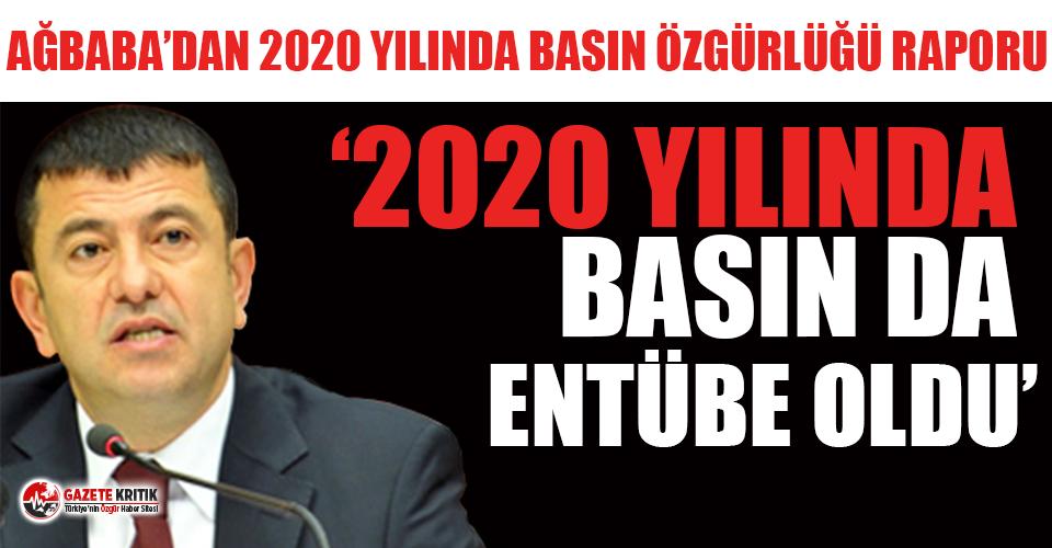 Veli Ağbaba'dan 2020 yılında basın özgürlüğü raporu!