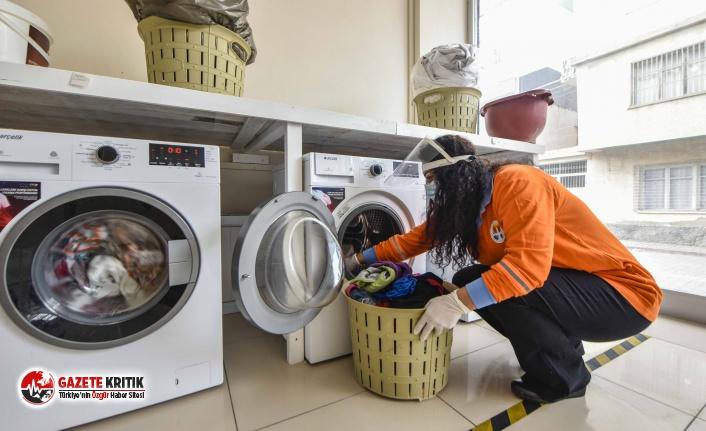 Adana Büyükşehir çamaşırhanesine ihtiyaç sahiplerinden yoğun talep
