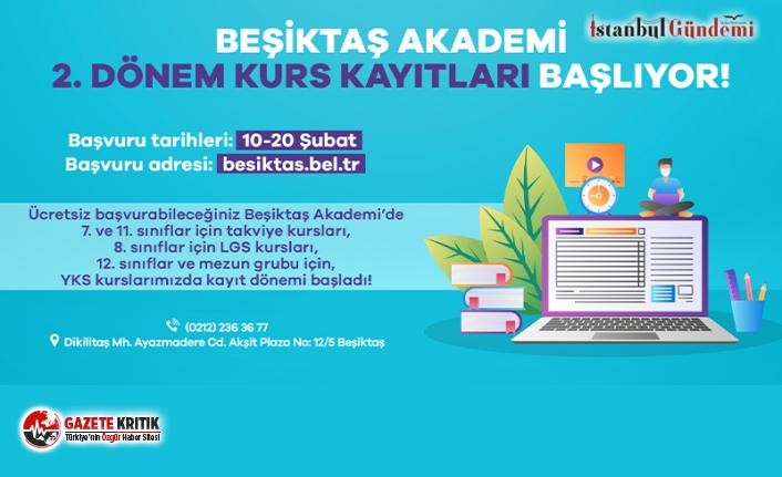 Beşiktaş Akademi 2. Dönem Kurs Kayıtları Başlıyor!