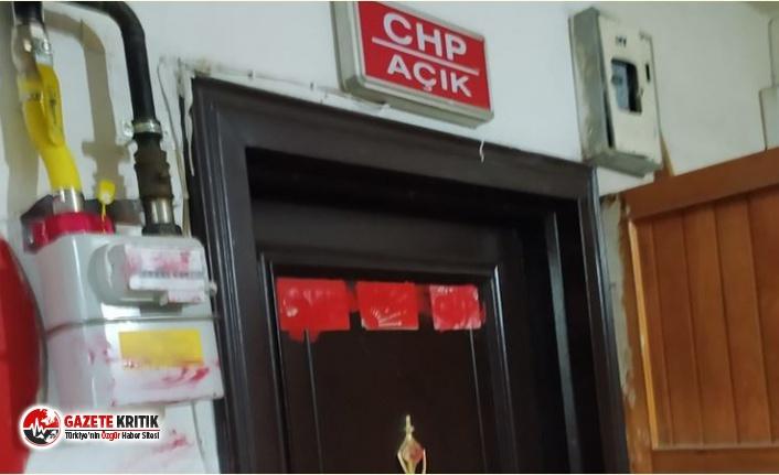 İskilip'te CHP binasına boyalı saldırı