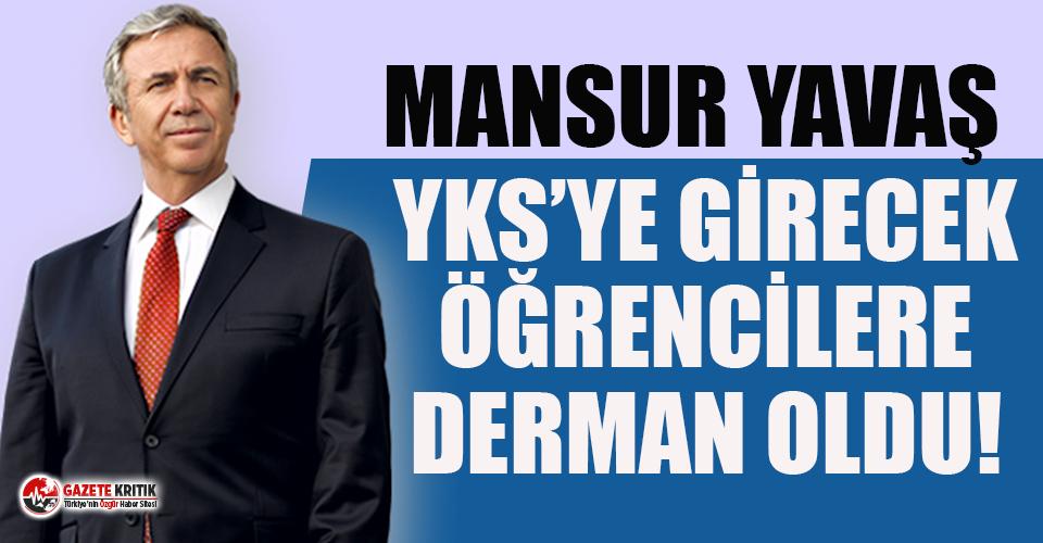 Mansur Yavaş'tan YKS açıklaması: İhtiyaç sahiplerinin sınav ücretleri karşılanacak