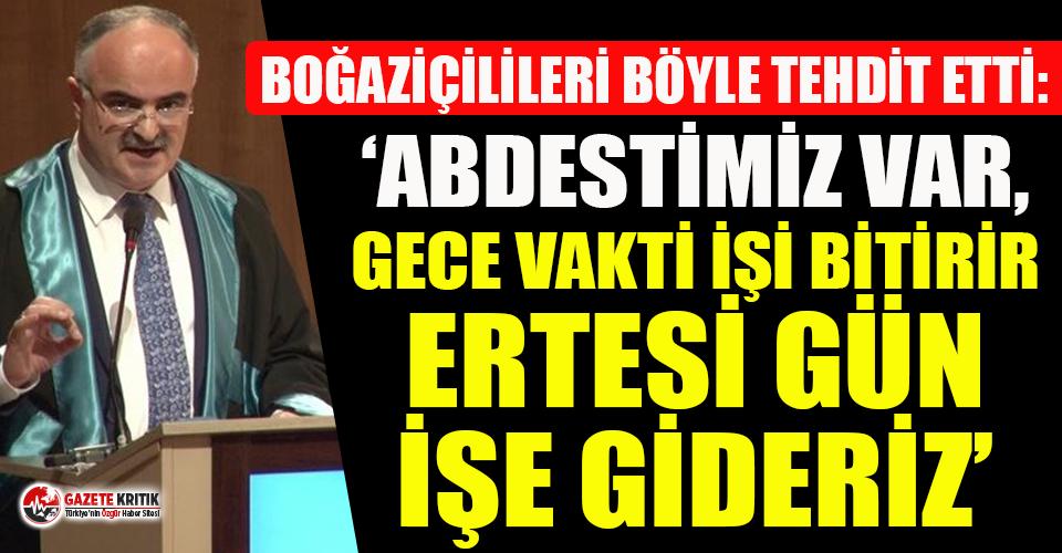 Trakya Üniversitesi İlahiyat Fakültesi Dekanından Boğaziçili öğrencilere tehdit!