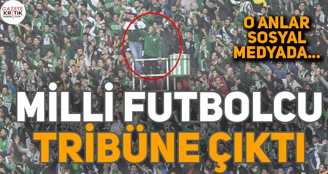 Bursaspor'un kaptanı Ertuğrul Ersoy tribüne çıktı!
