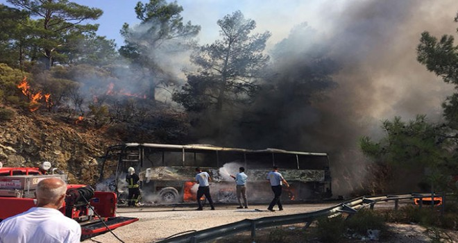 Datça'da yanan otobüste faciadan dönüldüğü ortaya çıktı