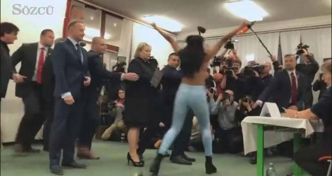 FEMEN bu kez o ismi hedef aldı!