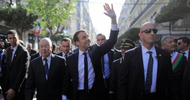 Cezayir'i ziyaret eden Macron özür dilemedi
