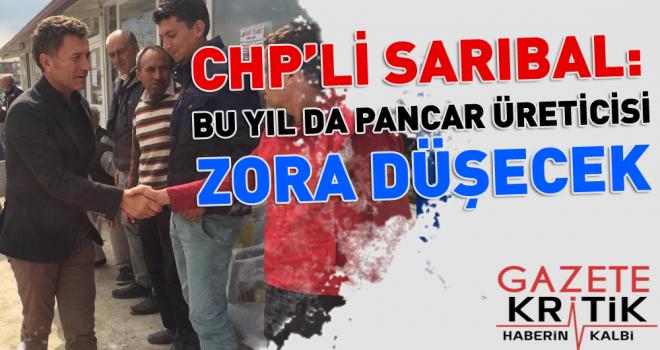 CHP'li Sarıbal'dan Türkşeker'e çağrı