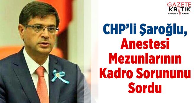 CHP'li Şaroğlu, Anestesi Mezunlarının Kadro Sorununu Sordu