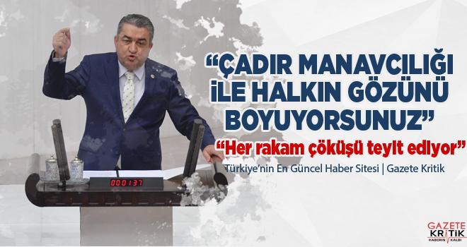 CHP'li Serter: Çadır manavcılığı ile halkın gözünü boyuyorsunuz