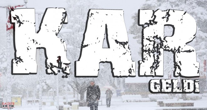 Trakya'da kar başladı