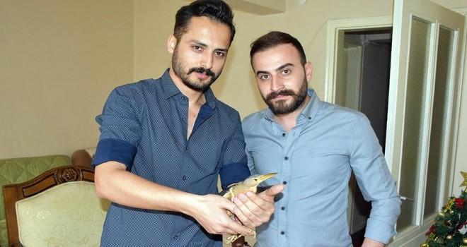 Öğrenciler Sivas'ta, nesli tükenmekte olan Hint balıkçıl kuşu buldu