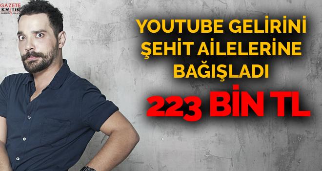 Oğuzhan Uğur ve ekibi YouTube kanalının 223 bin TL'lik reklam gelirini şehit ailelerine ve gazilere bağışladı