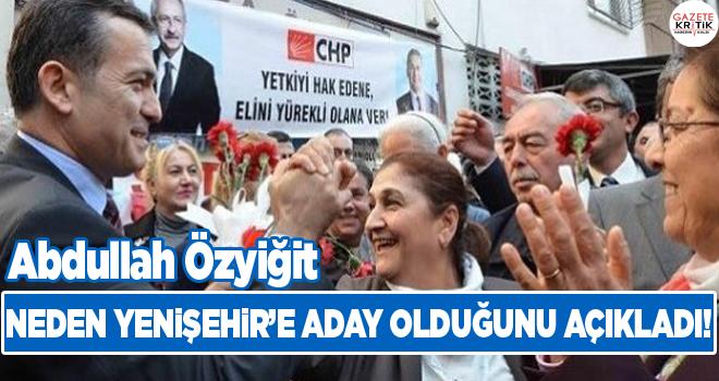 Abdullah Özyiğit Neden Yenişehir'e Aday Olduğunu Açıkladı!