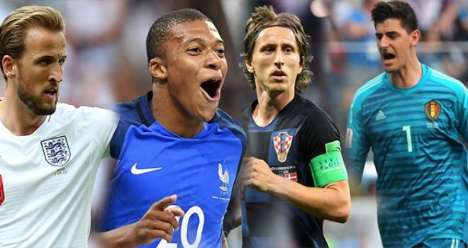 Kane, Mbappe, Modric, Courtois; işte Dünya Kupası'nın enleri