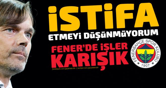 Fenerbahçe Teknik Direktörü Cocu: İstifa Etmeyi Düşünmüyorum