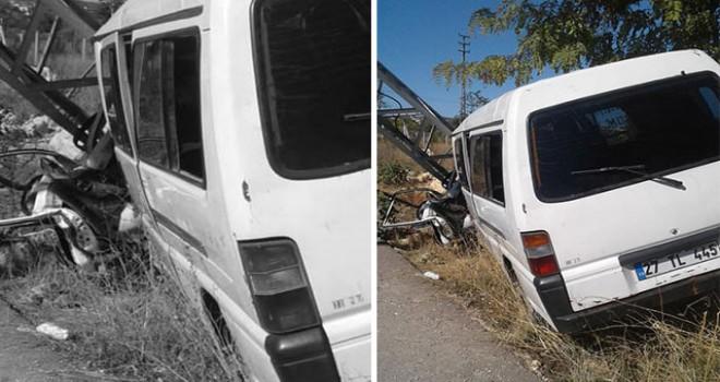 Sürücüsüne arıların saldırdığı minibüs kaza yaptı: 8 yaralı