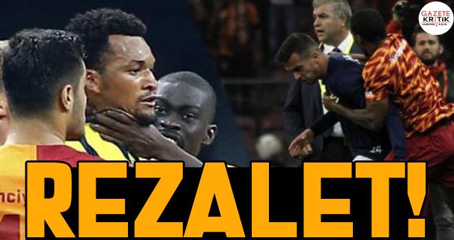 Galatasaray Fenerbahçe maçında yaşanan tekme tokat kavgadan tüm görüntüler!