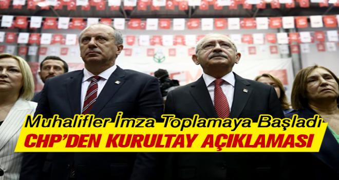 CHP'DEN KURULTAY AÇIKLAMASI!..