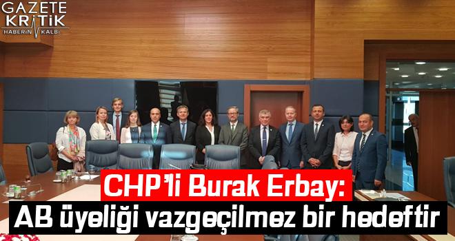 CHP'li Burak Erbay: AB üyeliği vazgeçilmez bir hedeftir