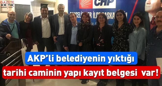 AKP'li belediyenin yıktığı tarihi caminin yapı kayıt belgesi  var!