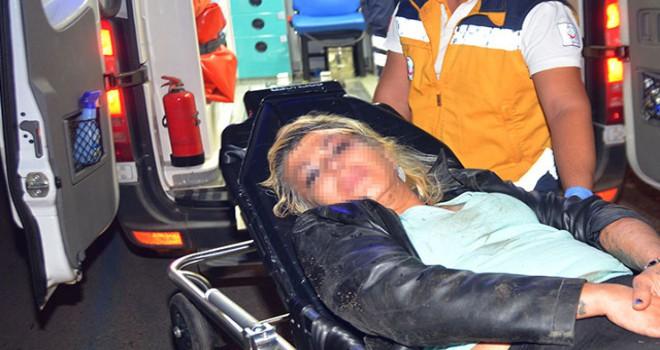 Hareket halindeki otomobilden atlayan kadın, yaralandı