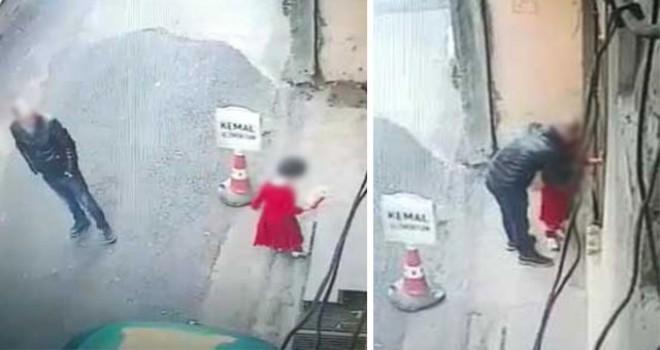 Trabzon'u ayağa kaldıran küçük kıza taciz kamerada