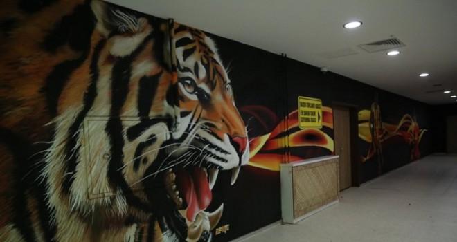 Yeni Malatyaspor'un stadı graffiti ile süsleniyor