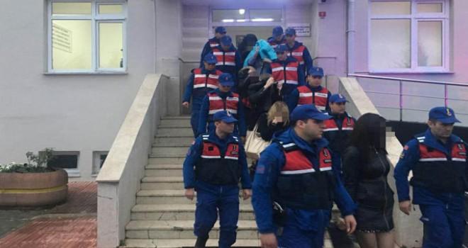 Jandarmada fuhuş operasyonu: 20'si kadın 24 gözaltı