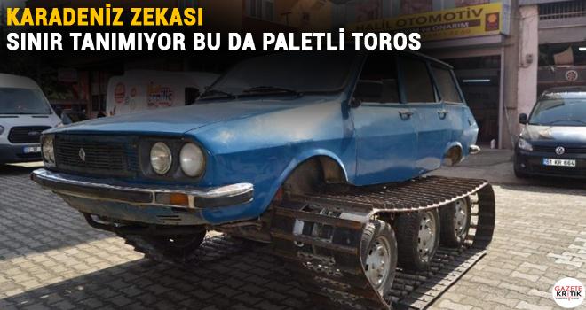 Karadeniz zekası sınır tanımıyor bu da paletli Toros