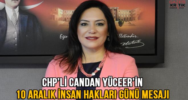 CHP PM Üyesi Tekirdağ Milletvekili Candan Yüceer'in 10 Aralık İnsan Hakları Günü Mesajı:
