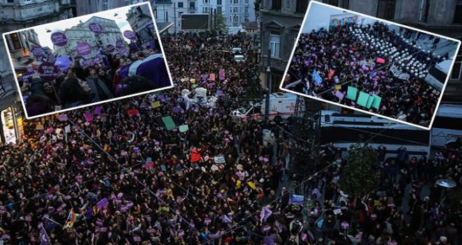 Taksim'deki kadına şiddet eylemine polis müdahalesi