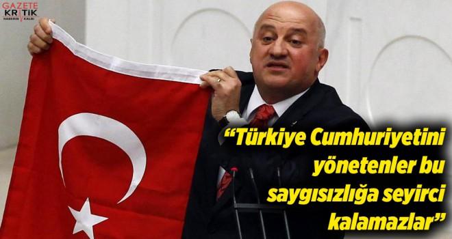 CHP'Lİ BAYRAKTUTAN'dan SOYLU'YA: Türkiye Cumhuriyetini yönetenler bu saygısızlığa seyirci kalamazlar