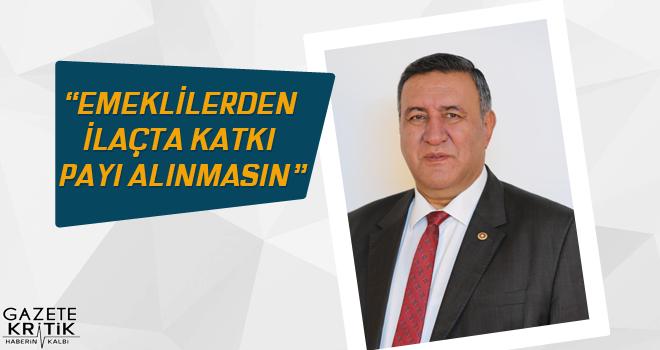 CHP Milletvekili Gürer: Emeklilerden ilaçta katkı payı alınmasın
