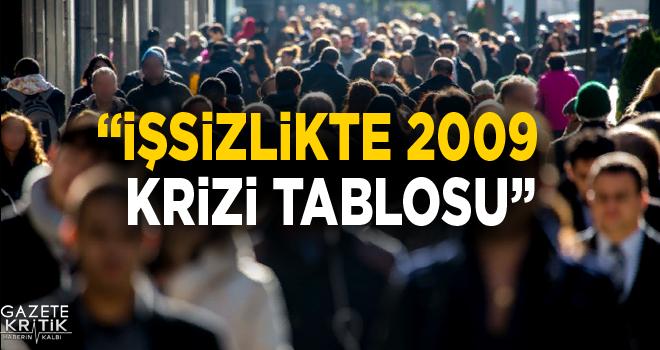 İŞSİZLİKTE 2009 KRİZİ TABLOSU
