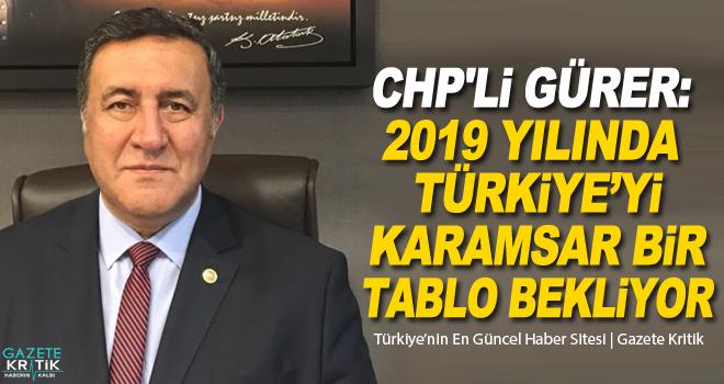 CHP'li Gürer: 2019 yılında Türkiye'yi karamsar bir tablo bekliyor