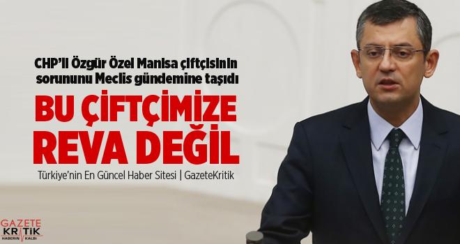 CHP'li Özel Manisa çiftçisinin sorununu Meclis gündemine taşıdı