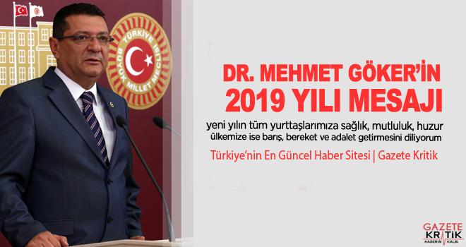 CHP BURDUR MİLLETVEKİLİ DR. MEHMET GÖKER'İN 2019 YILI MESAJI