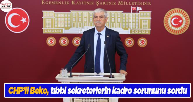 CHP'li Beko, tıbbi sekreterlerin kadro sorununu sordu