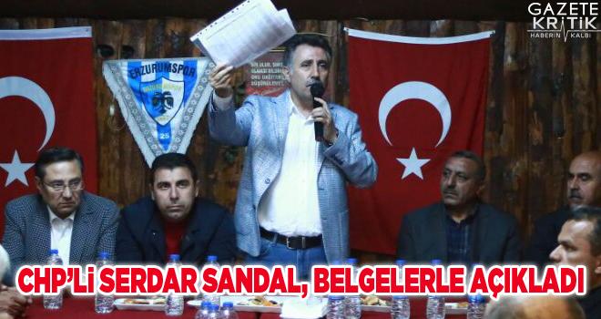 CHP'li Serdar Sandal, belgelerle açıkladı