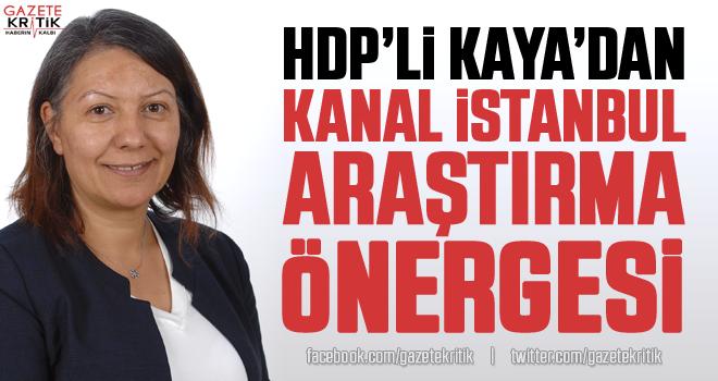 HDP'li Dilşat Canbaz Kaya'dan Kanal İstanbul Araştırma Önergesi