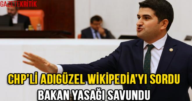 CHP'li Adıgüzel Wikipedia'yı Sordu Bakan Yasağı Savundu