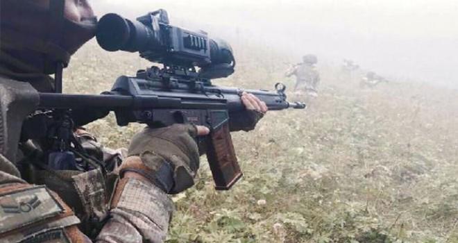 Bingöl'de, PKK'lı 2 terörist öldürüldü, 1'i yaralı yakalandı