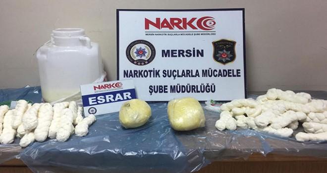 Peynir bidonunda uyuşturucu sevkiyatına 8 tutuklama