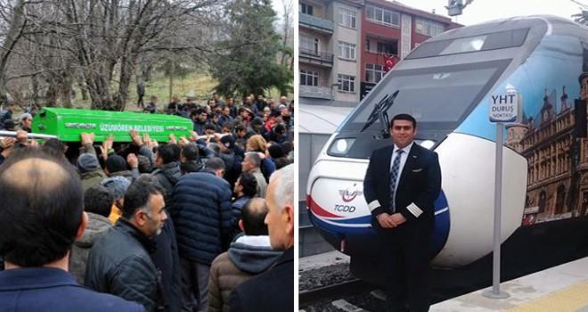 YHT kazasında ölen makinist Hulusi Böler, Tokat'ta toprağa verildi