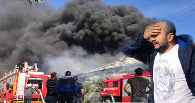 Adapazarı'nda fabrika yangını