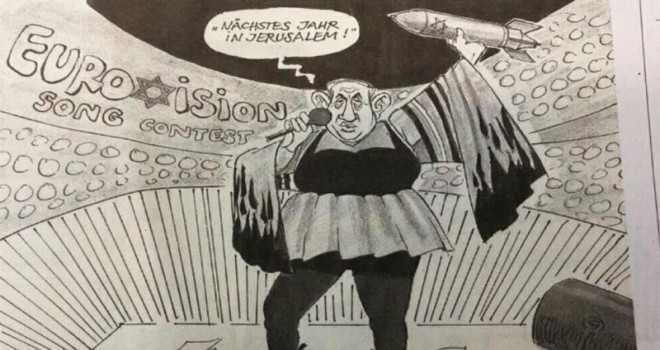 Ortalığı karıştıran karikatür: Gelecek sene Kudüs'te