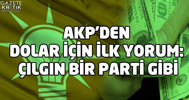 AKP'den dolar için ilk yorum: Çılgın bir parti gibi