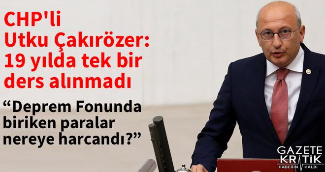 CHP'li Utku Çakırözer:19 yılda tek bir ders alınmadı